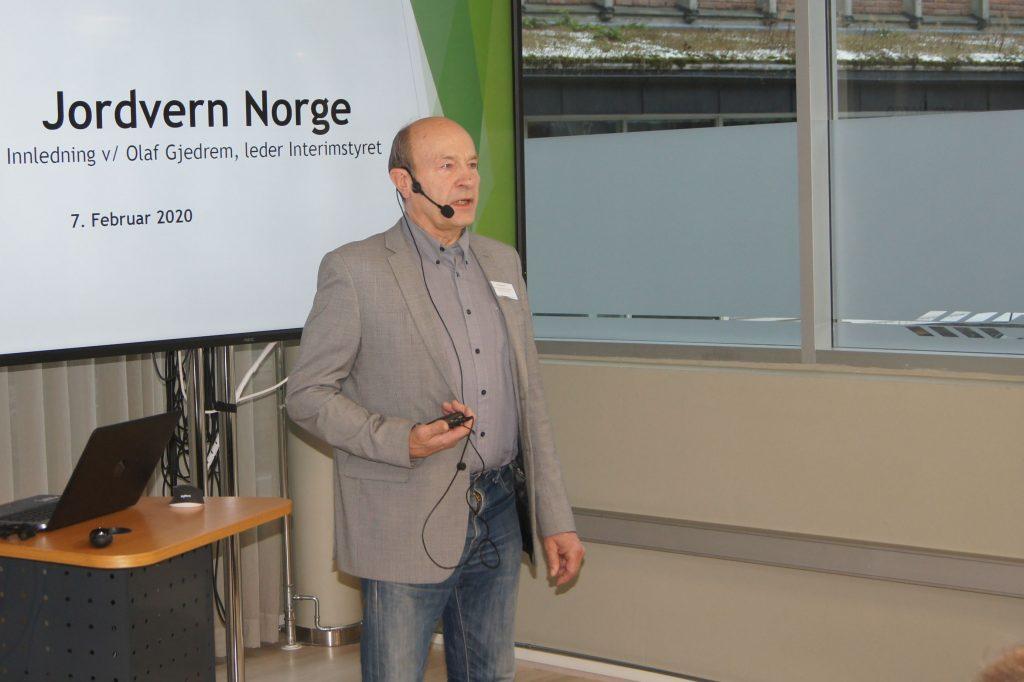 Olaf Gjedrem, leder for det nyvalgte interimstyret i Jordvern Norge